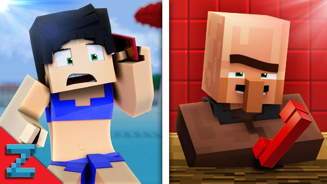 Prank Call 2 Funny Minecraft Animation Youtube