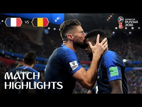 Смотреть France v Belgium - 2018 FIFA World Cup Russia™ - Match 61 онлайн