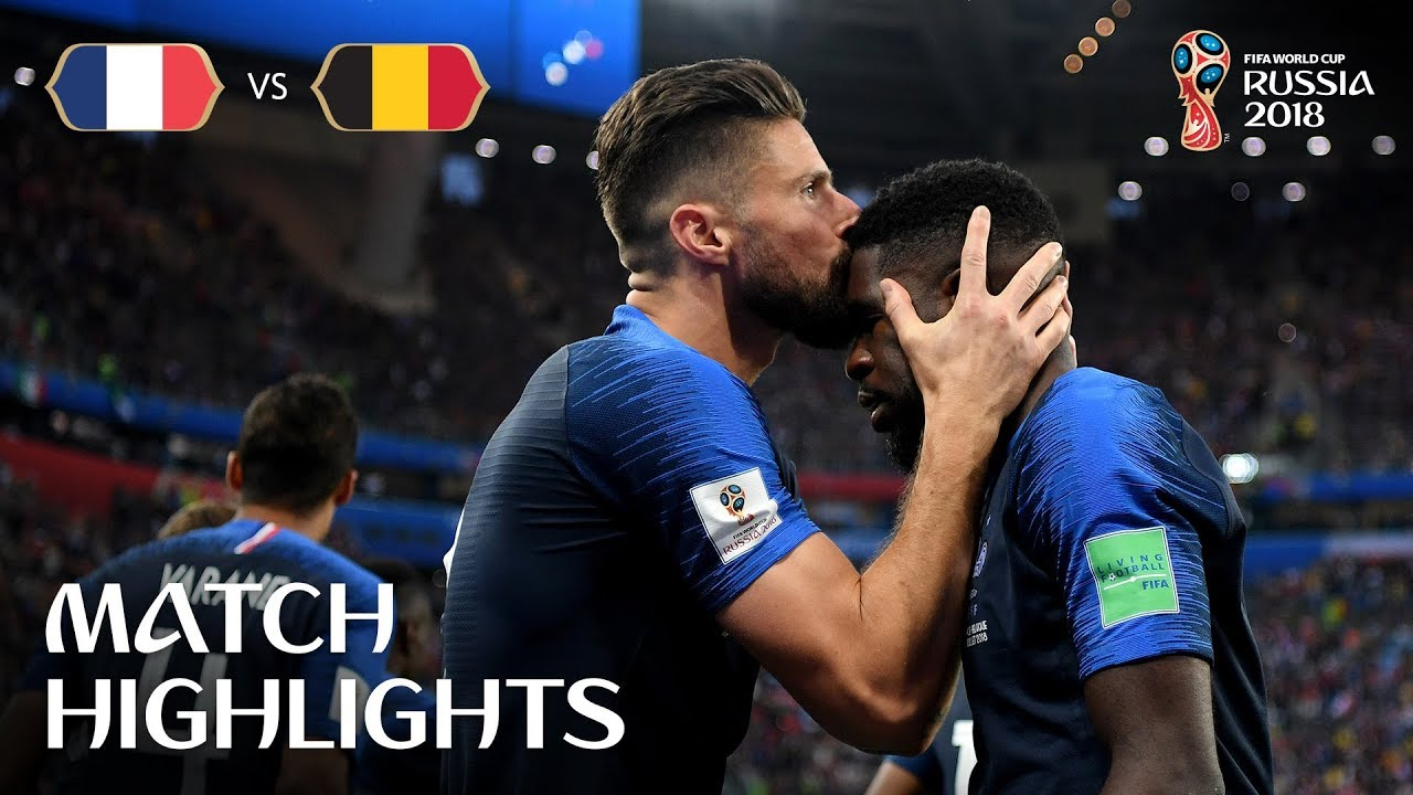 France V Belgium 2018 Fifa World Cup Match Highlights Youtube