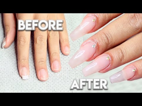 HOW TO DO YOUR OWN BUILDER GEL NAILS AT HOME | BEGINNER FRIENDLY