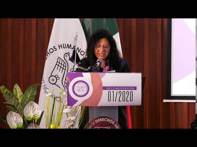 Discurso de Nashieli Ramírez Hernández, Presidenta de la CDHCM, en Recomendación 01/2020