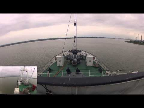 FullHD TIMELAPSE, MS Stubnitz, from London to Dunkirk,