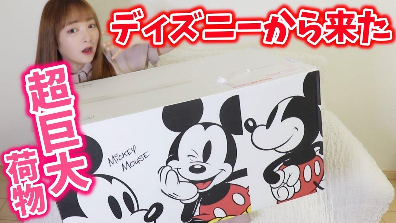 【超巨大】ディズニー新ショップで爆買い!!!届いた巨大段ボール開封♡