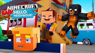 Minecraft BABY HELLO NEIGHBOUR - THE NEIGHBOUR KIDNAPS DONALD TRUMP - Donut the Dog Minecraft