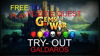 Gems Of War- Puzzle RPG gameplay: Puzzle Quest MMO! This game is AWSOME 100% free! Nice sounds!