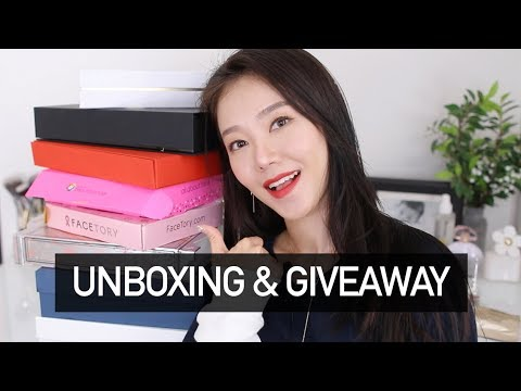 HUGE PR UNBOXING + GIVEAWAY! | KOREAN & WESTERN BRANDS