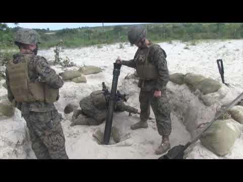 Marine Fire 81mm Mortars at  Camp Lejeune, N.C. (HD)