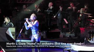 "Depeche Mode ""Home"" w/ live orchestra - London, UK @ Royal Albert Hall 2010.02.17 in HD"