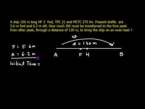 Ship Stability _Type A Trim Problems Ex 22 _Q3 - YouTube
