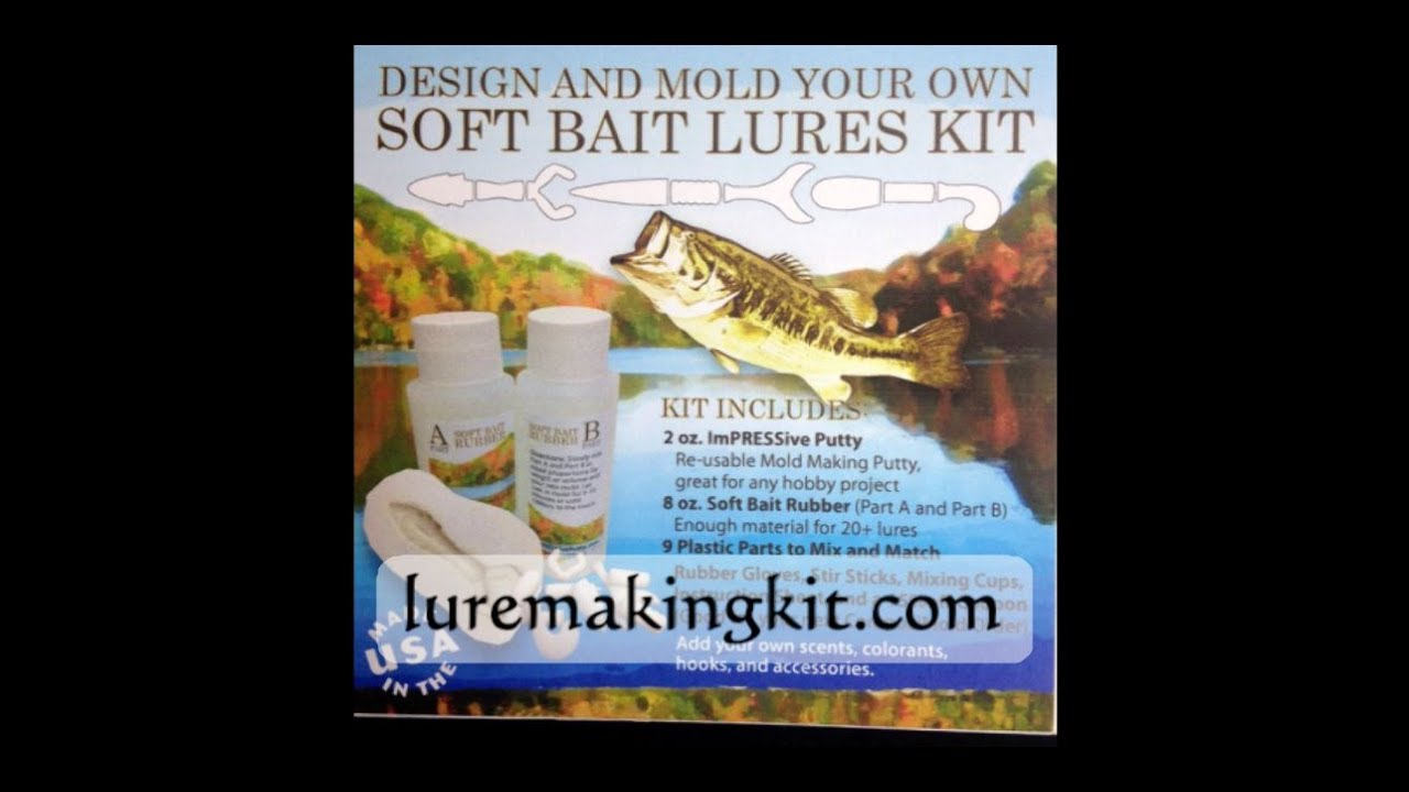 How to make your own soft bait fishing lures with a re for Fishing lure kits make your own
