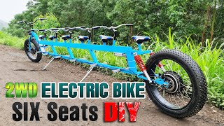 Build A 2WD Electric FatBike 1000W - 6 Seats - 40km/h - Long Electric Bike