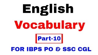 English Vocabulary for Bank po and SSC CGL  [In Hindi] Part 10