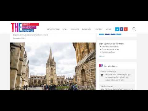 UK universities ranking 2017