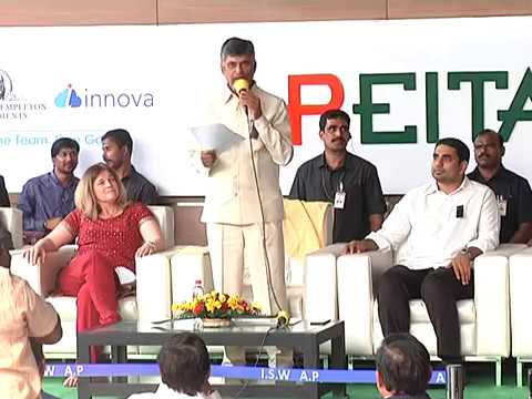 """AP CM INAUGURATED ''FRANKLIN TEMPLETON INVESTMENTS"""" IT COMPANY @ VIZAG 29-03-2018"""