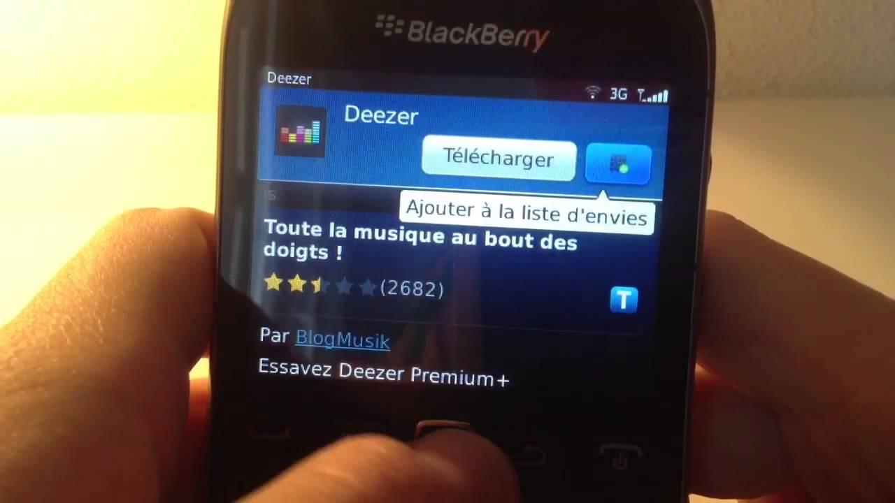 BLACKBERRY 8520 CURVE DEEZER TÉLÉCHARGER POUR