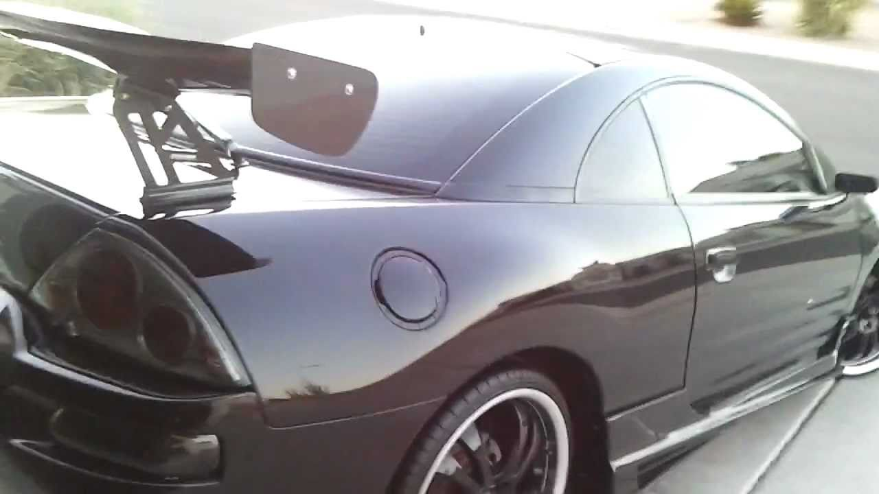 3g eclipse take off with aem cai long tube headers and catless custom exhaust - Custom 2003 Mitsubishi Eclipse