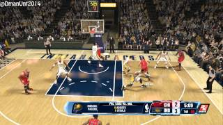 Playstation 4 NBA 2K14 HD Game Play - Chicago Bulls vs. Indiana Pacers