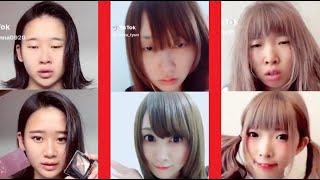 【Tik Tok】詐欺メイクで大変身の女の子★ティックトックまとめ★ #01