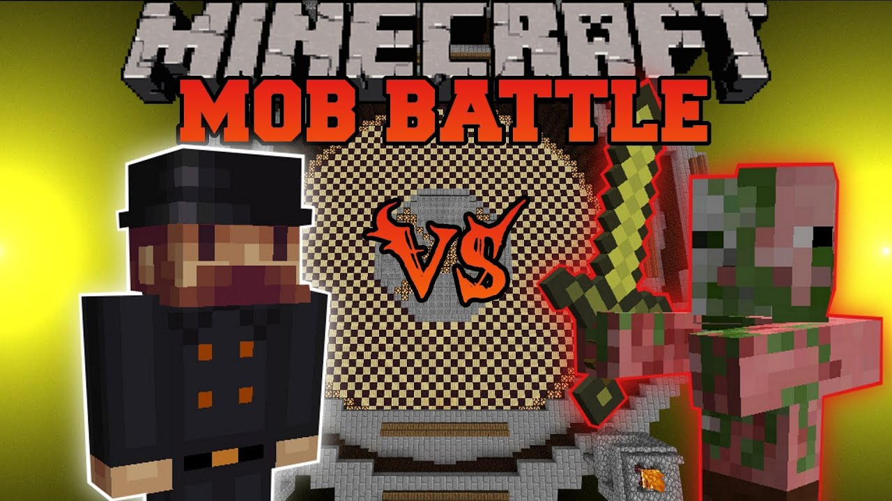 Notch Vs Zombie Pigman Minecraft Mob Battles Arena