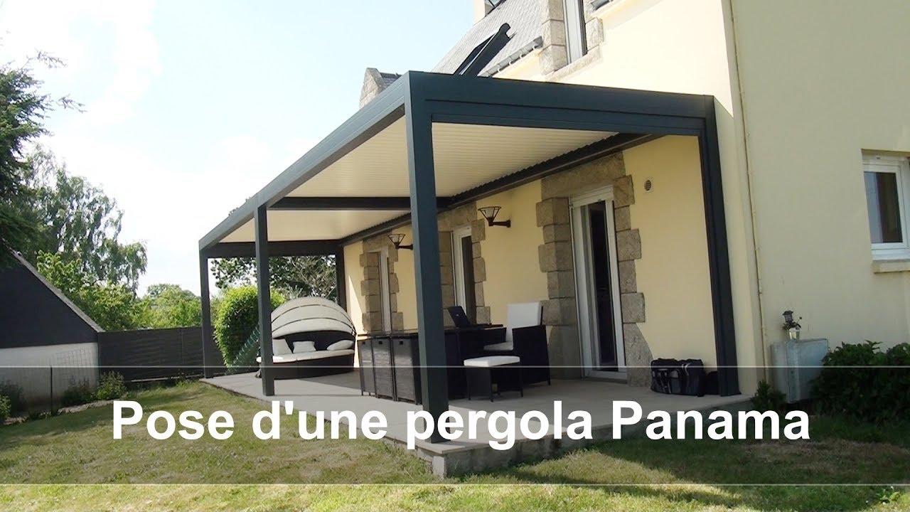 Menuiserie Peuron Pose D Une Pergola Modele Panama Youtube