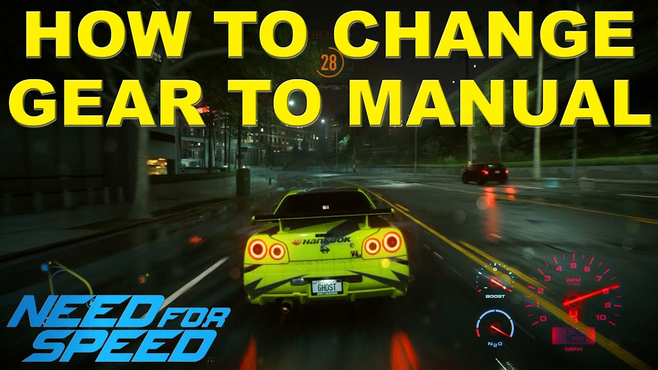 need for speed 2015 manual