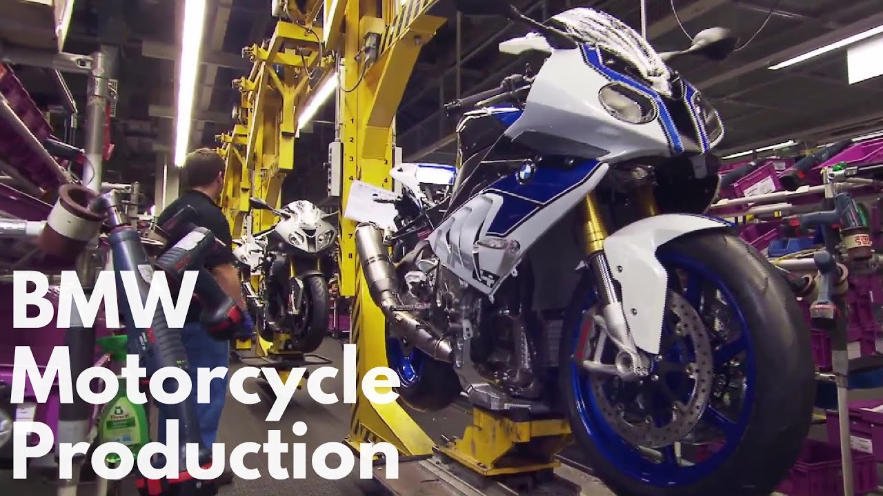 bmw motorcycle production - youtube