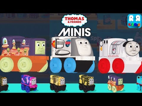 Play with All Space Minis Engine Spencer, Gordon and Iron Bert - Thomas & Friends Minis