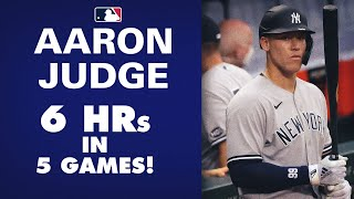 Yankees' Aaron Judge is ON FIRE! 6 home runs in 5 games. Early favorite for AL MVP?