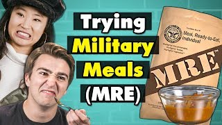 COLLEGE KIDS EAT MILITARY MEALS MREs (Asian Style Beef, Chili, more)  | College Kids Vs Food
