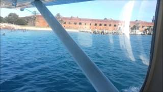 Seaplane video #2 - water landing at Fort Jefferson, Dry Tortugas