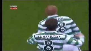 alan thompson goal vs rangers ( rab mcneillys vids )