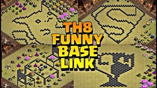 TH8  FUNNY BASE DESIGN LINK | TOP 20 BASE LAYOUTS | GAMING ZONE LIVE