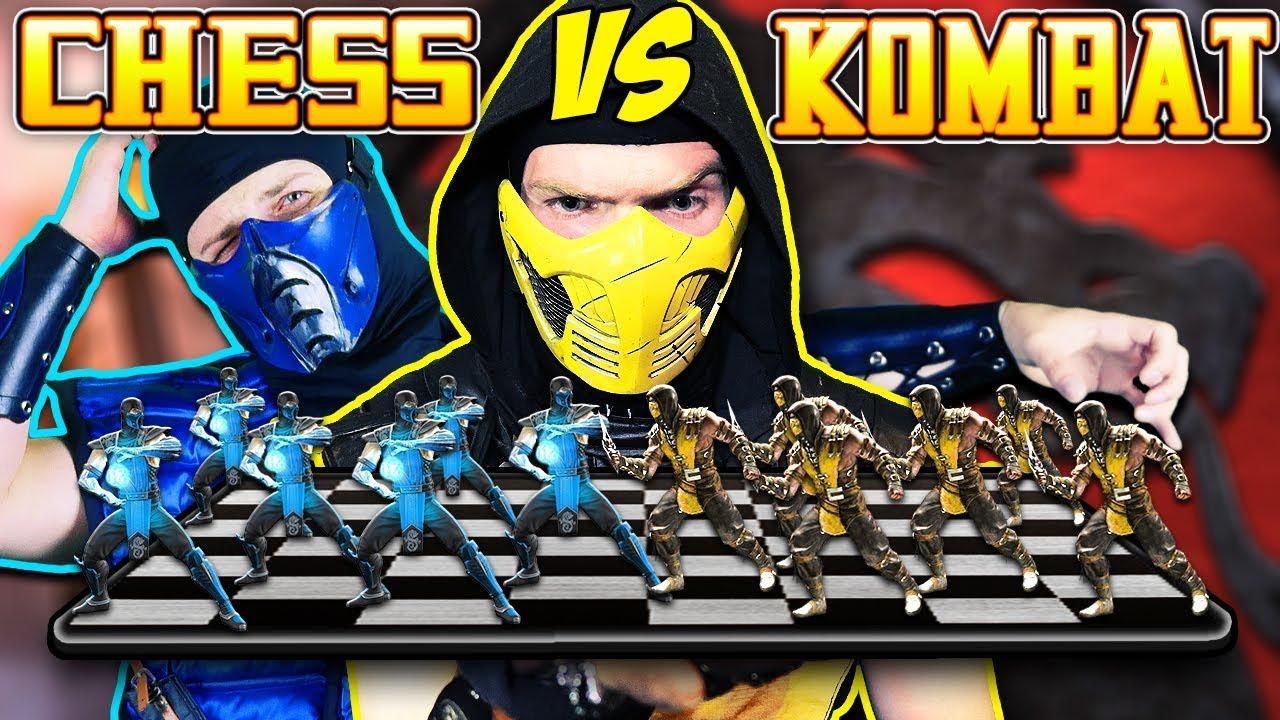 Scorpion Vs Sub Zero Chess Kombat Mortal Kombat Deception