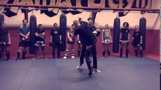 Roundhouse kick defence, by Yamato Gym, Weesp, Holland, NETHERLANDS