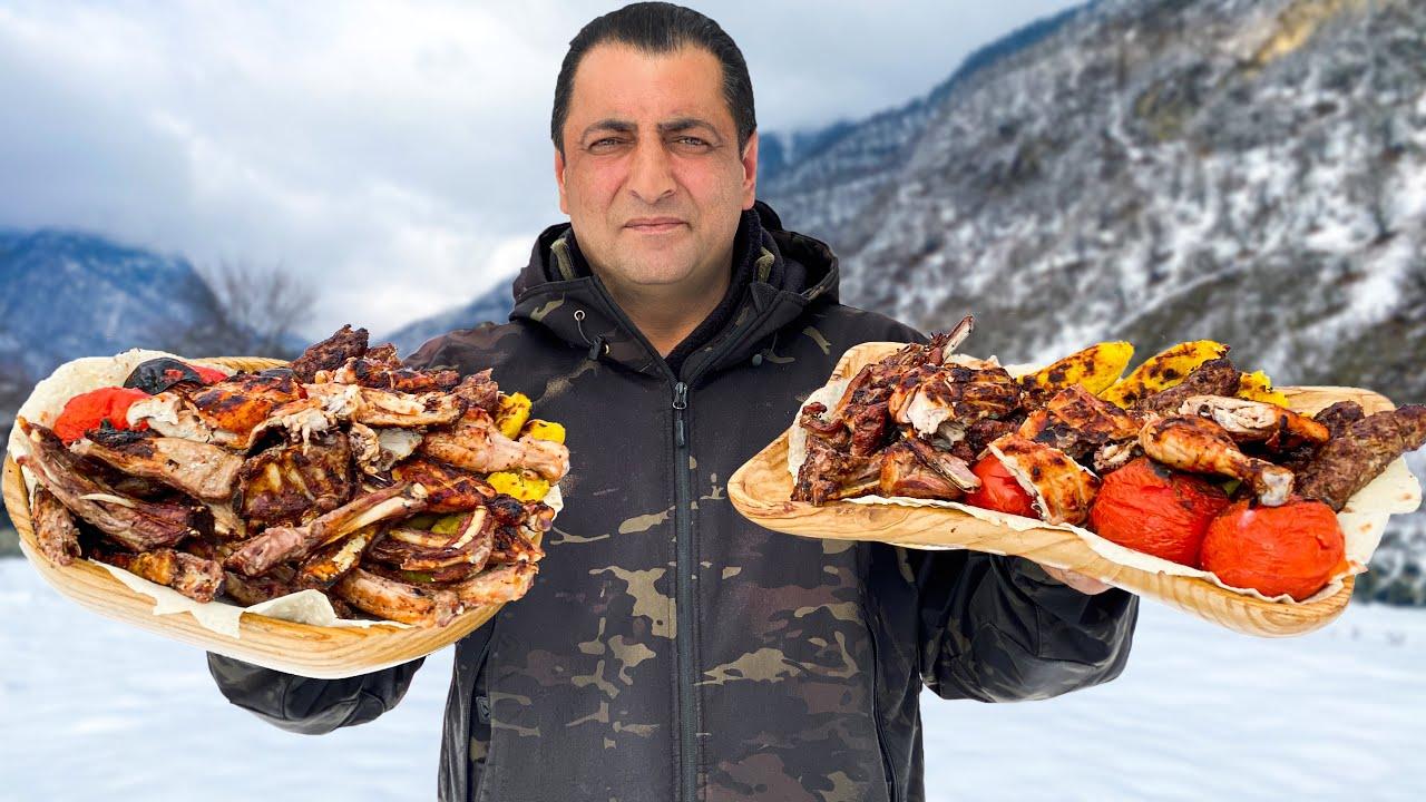 I PREPARED A WHOLE MOUNTAIN OF FOOD TO KEEP EVERYONE FULL! LAMB AND CHICKEN SHISH KEBAB