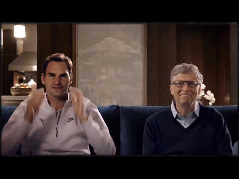 Roger Federer And Bill Gates Playing Tennis | Tennis Match For Africa | 2018 Must Watch