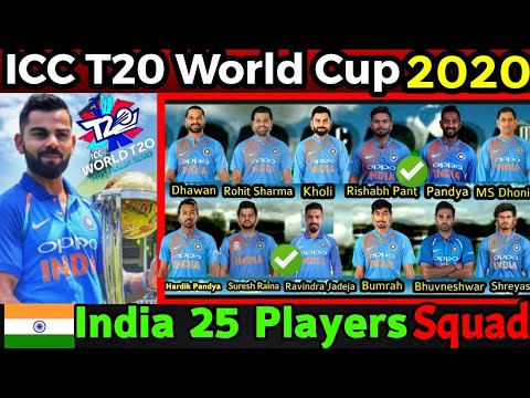 T20 World Cup 2020 | India 25 Members Probable Squad What BCCI Might Think | 2020 T20 World Cup