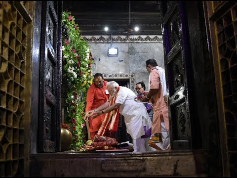 PM Narendra Modi visits Durga Kund and Darshan at Durga Mata Temple , in Varansi