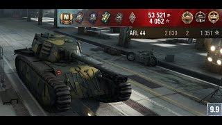 WoT - ARL 44 (Ace Tanker, Steel Wall, Cool Headed, High Caliber)