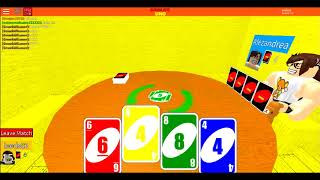 Let's play ROBLOX: Leeds plays UNO in ROBLOX! (Round 3)