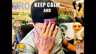 Vlog 01   FIANCE GETS HIS NAILS DONE! 💅