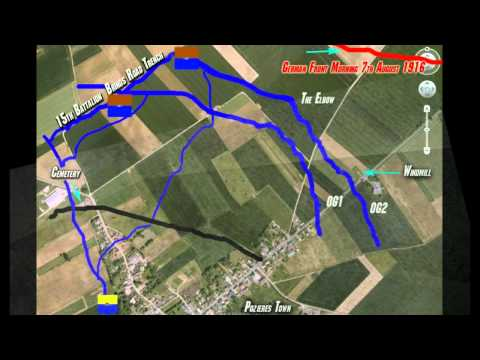 PART 4 POZIERES SOMME HISTORY OF ALBERT JACKA VC WORLD WAR ONE