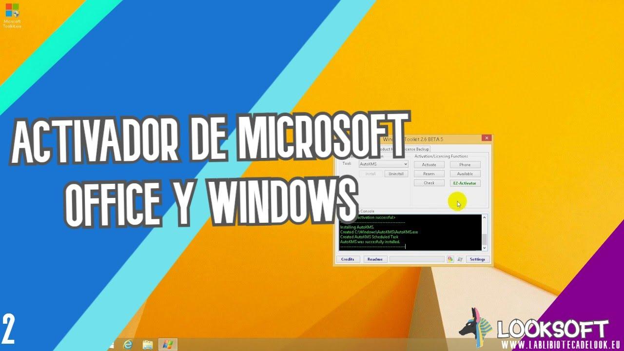 Microsoft Toolkit v2.6.3  , Activador de Wind…