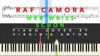 Wer weiß schon Raf Camora Piano Instrumental Cover