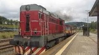 Czech Republic & Germany: Karlovy Vary - Johanngeorgenstadt Railway, Ore Mountains CD Class 742 201