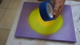 #Fluid Acrylics Pour Preparing Your Canvas Couples Painting @ Patricia's Art Emporium #112