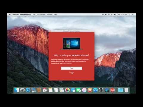 Microsoft Remote Desktop Run In Mac OS High Siera 2018