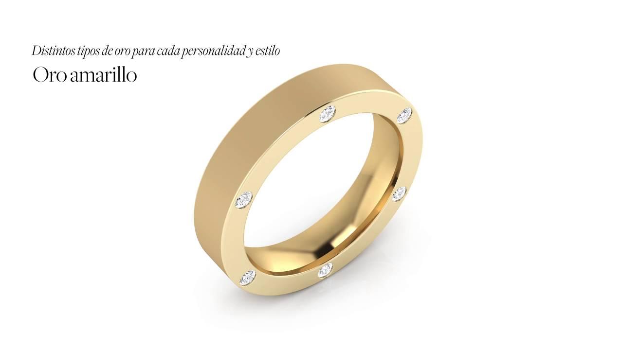 896a702b73bc Alianzas de Boda con diamantes en oro blanco