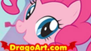 How to Draw Pinkie Pie, Pinkie Pie, My Little Pony, Step by