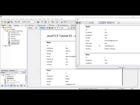 JavaFX 8 Tutorial 63 - Jasper Report With SQL Query